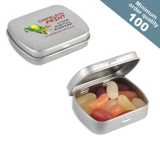 Mini Hinge Tin with Jelly Beans