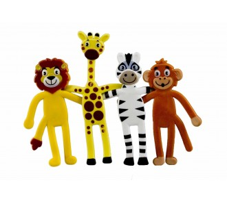 Bendy Zoo Animals (Pack of 12)