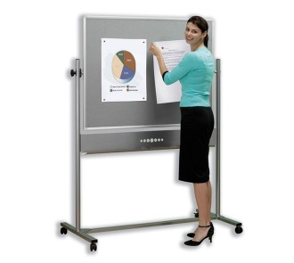 Nobo Mobile Combination Whiteboard