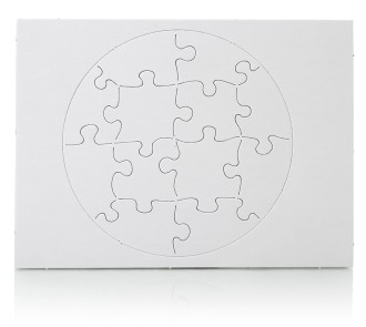 Blank Jigsaw - Circle Shape (Pack of 3)
