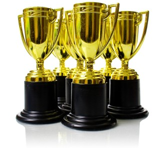 Gold Trophies (Pack of 6)