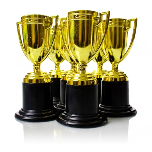 gold trophies pack of 6