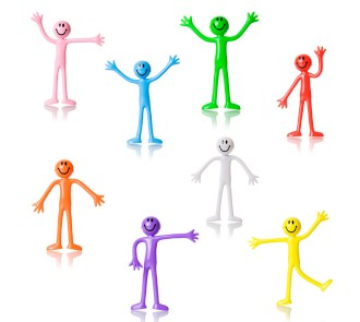Bendy Men - Individual Colours (Pack of 8)