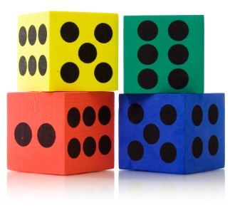 Large Foam Dice (Pack of 4)