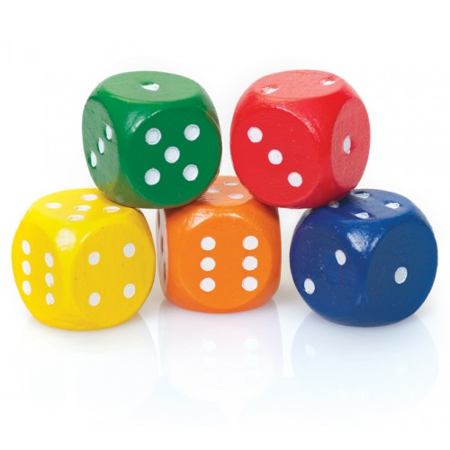Coloured Dice (Pack of 5)