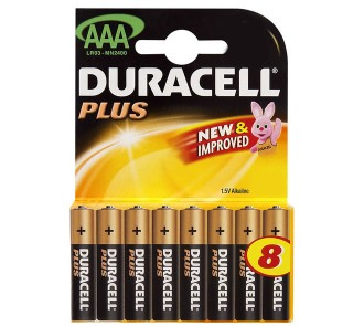 AAA Duracell Batteries (Pack of 8)