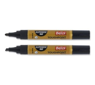 Berol Autoseal Toughpoint Markers (Pack of 12)